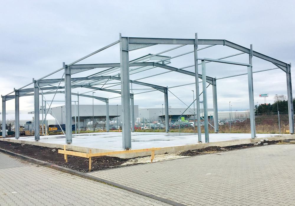 Bau neuer Halle Pressluft Schäfer