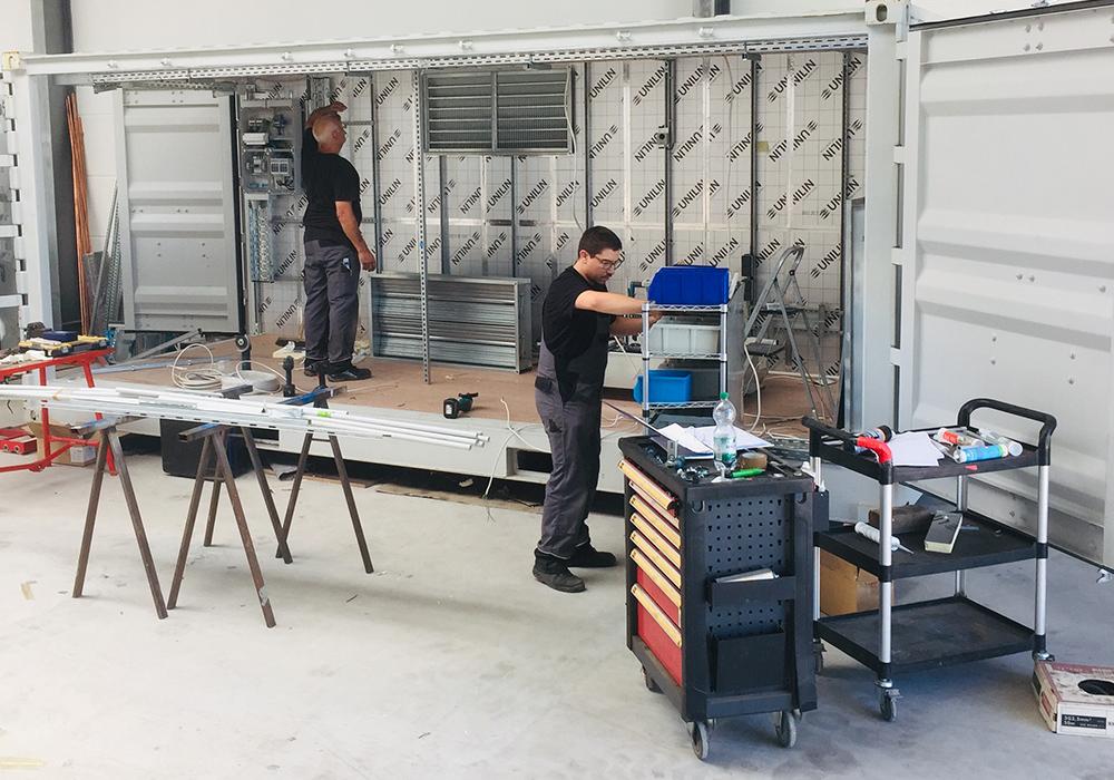 Bau eines Druckluftcontainers