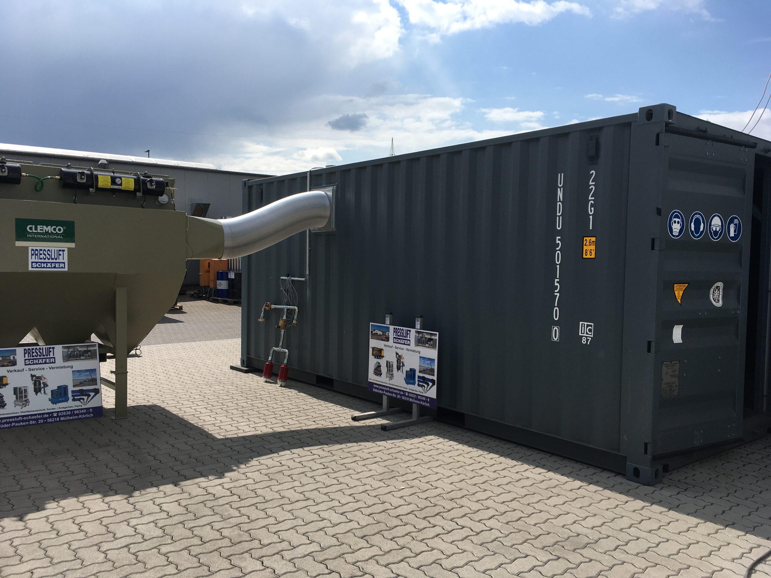 2x 20'-Container für Sandstrahlarbeiten