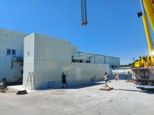 Schulz Farben Containergroßprojekt 4 Container mit Stahlgewerk 1